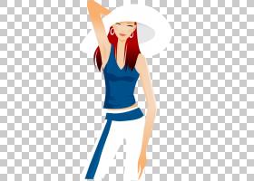 绘图插图,手绘卡通帽子美发PNG剪贴画水彩画,帽子矢量,手,人,时尚
