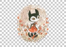 绘图插图,猫女士PNG剪贴画水彩画,png材料,动物,头,生日快乐矢量