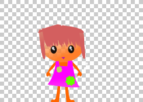 卡通,红头发件红色裙子卡通女孩PNG剪贴画孩子,人民,橙色,幼儿,计