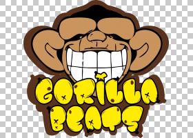 卡通大猩猩PNG剪贴画脸,食品,动物,徽标,鼻子,红色,轮廓,微笑,刻