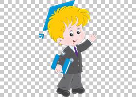 卡通学生,学校PNG剪贴画孩子,手,人民,人类,男孩,卡通,虚构人物,