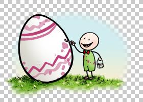 卡通情感复活节彩蛋微笑,鸡蛋PNG剪贴画孩子,人民,草,复活节彩蛋,