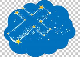 卡通明星,可爱的卡通明星云PNG剪贴画蓝色,星星,云,卡通,卡通眼睛