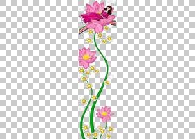 花艺设计,莲花女孩PNG剪贴画之旅叶,时尚女孩,文本,花卉,卡通,虚