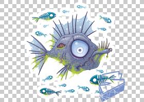 T恤Zombie Fish,金鱼PNG剪贴画动物群,贴纸,卡通,动物,海洋生物学