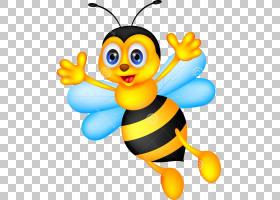 蜂蜜蜂,卡通昆虫PNG剪贴画蜜蜂,昆虫,卡通,minibeast,害虫,授粉,
