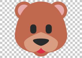 表情符号芝加哥熊贴纸,棕熊PNG剪贴画哺乳动物,脸,肉食动物,狗像