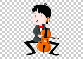表演乐器音乐会插图,儿童演奏乐器PNG剪贴画漫画,儿童,儿童,男孩,