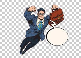 超人卡通,超人PNG剪贴画的手绘套装水彩画,画,英雄,手,手绘,虚构