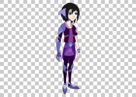 Xion艺术作品,重生PNG剪贴画杂项,紫色,黑色头发,紫罗兰色,其他,