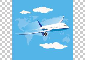飞机飞行飞机,天空航空飞机材料PNG剪贴画海洋哺乳动物,生日快乐