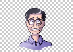 鼻子眼镜人类行为下巴,鼻子PNG剪贴画脸,手,人民,头,卡通,虚构人