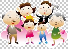 儿童全国祖父母节家庭育儿,商业广告PNG剪贴画孩子,人民,友谊,蹒