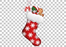 圣诞老人圣诞节长袜圣诞卡,圣诞节PNG clipart假期,圣诞节装饰,新