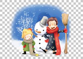 桌面动画手机绘图,冬天雪人儿童PNG剪贴画杂,孩子,画,冬季,手,计