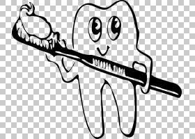牙刷牙刷口腔卫生人类牙齿,牙刷PNG剪贴画白色,文本,手,单色,牙科