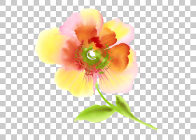 猩红色的花绘图,卡通花PNG剪贴画水彩画,杂项,草本植物,儿童,其他