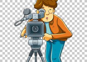 相机操作员摄影卡通,摄影师PNG剪贴画电视,免版税,电影,技术,股票