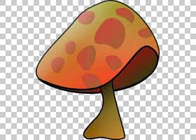 真菌可食用的蘑菇,蘑菇卡通的PNG剪贴画橙色,电脑,卡通,蘑菇卡通