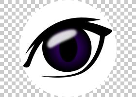眼睛眨眼卡通眼睛PNG剪贴画紫色,紫罗兰色,人民,卡通,免版税,眼,