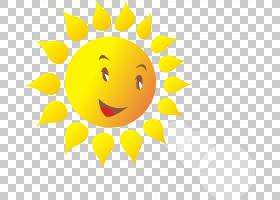 笑脸卡通,卡通太阳PNG剪贴画卡通人物,漫画,花卉,太阳光线,封装的