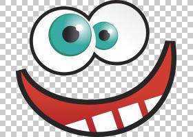笑脸卡通脸,疯狂搞笑的PNG剪贴画脸,笑脸,卡通,版税免费,股票插图