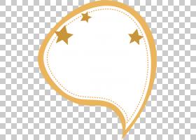 纸对话框文本框黄色,橙色星形边框PNG剪贴画框架,星星,橙色,边框