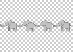 线条艺术大象PNG剪贴画角,动物,文本,摄影,单色,尾巴,免版税,卡通图片