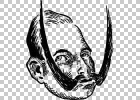 线条艺术绘画年轻的PNG剪贴画杂项,其他,单色,卡通,虚构人物,凯撒