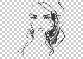 线条艺术耳朵素描其他PNG剪贴画杂项,白,脸,其他,单色,头,人类,时