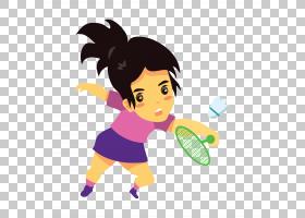 羽毛球运动员运动毽子,羽毛球PNG剪贴画孩子,手,运动,幼儿,电脑壁
