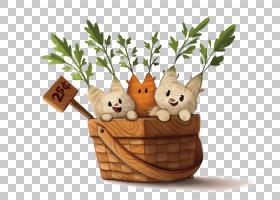 艺术以图例解释者图画例证,萝卜猫PNG clipart篮子动物,生日快乐