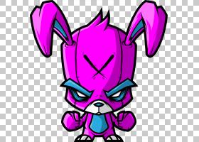 艺术紫色,兔子PNG剪贴画杂项,紫色,动物,紫罗兰,其他,兔子,卡通,