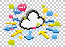 云计算计算机网络,云数据传输PNG剪贴画文本,云,信息技术,卡通,计图片