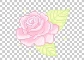 像素艺术,动画PNG剪贴画花卉布置,文本,花卉,卡通,洋红色,越界艺
