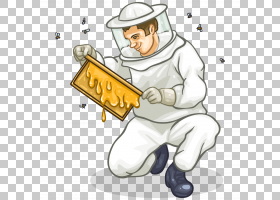 养蜂人养蜂养蜂场,动态PNG剪贴画手,昆虫,厨师,运动器材,卡通,蜂