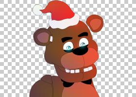 在Freddy的3个圣诞节,弗里迪的2个五夜,五晚,Chrismas PNG剪贴画图片