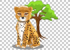 婴儿丛林动物卡通河马动画,猎豹PNG剪贴画哺乳动物,动物,猫像哺乳