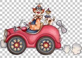 小丑车动画卡通马戏团,小丑PNG剪贴画剪纸,汽车,虚构人物,车辆,小