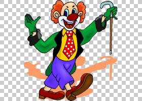 小丑马戏团,小丑PNG剪贴画虚构人物,卡通,免版税,表演艺术,艺术品