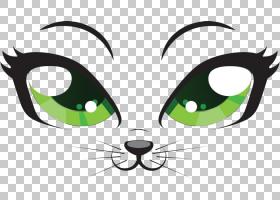 小猫卡通眼,猫局部特写PNG剪贴画动物,猫像哺乳动物,摄影,徽标,举