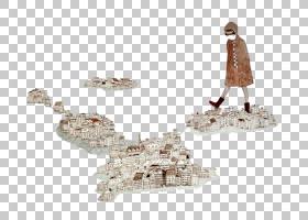 视觉艺术唱歌离开黑暗的以图例解释者图画例证,动画片镇房子PNG c