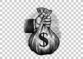 钱贪财财富,手袋儿童PNG剪贴画孩子,手,人民,单色,生日快乐矢量图