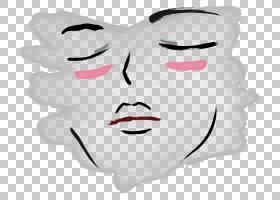 面部表情微笑鼻子红红的嘴唇PNG剪贴画白色,脸,人民,头,卡通,虚构