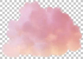 棉花糖粉红云粉红云粉色和白色的云朵插图PNG剪贴画绘,手,云,云计