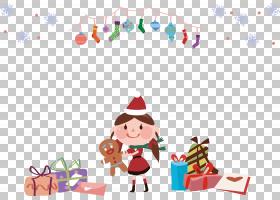 圣诞老人圣诞节装饰品,圣诞节动画片女孩PNG clipart假期,电脑壁