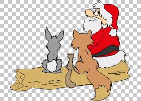 圣诞节绘画圣诞老人PNG clipart哺乳动物,假日,食肉动物,摄影,狗图片