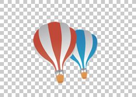 热气球,降落伞PNG剪贴画的颜色蓝色,颜色飞溅,橙色,彩色铅笔,气球