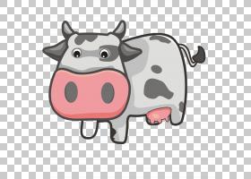 牛卡通小牛动画,卡通牛PNG剪贴画卡通人物,动物,漫画,鼻子,可爱,