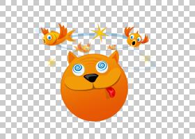 猫,鸟滑稽的猫PNG剪贴画动物,橙色,爱情鸟,卡通,搞笑,材料,鸟笼,